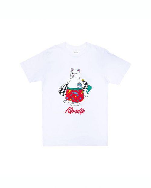 T-Shirt Ripndip Surf Break Tee White