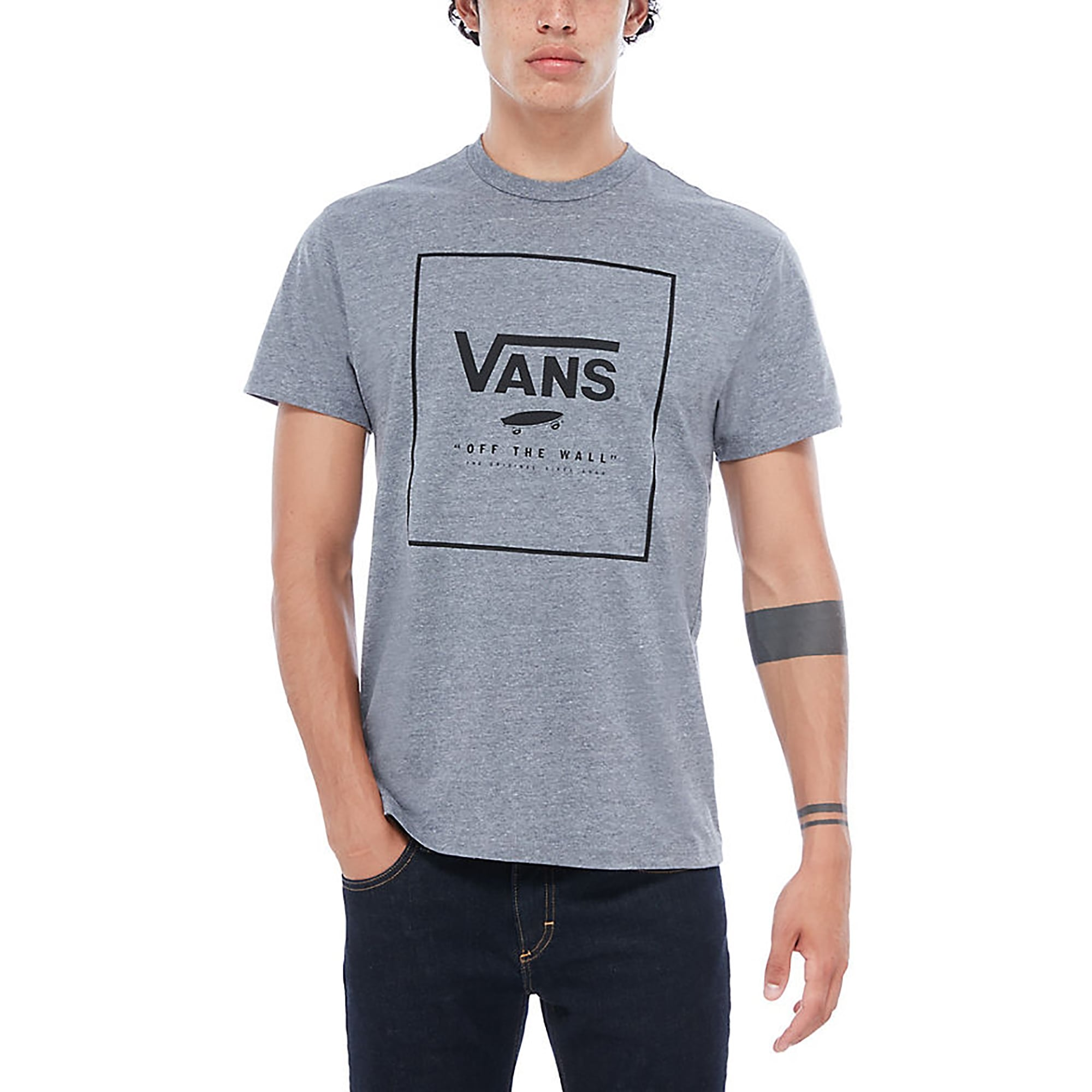 Vans T-Shirt Print Box SS HEATHER GREY-BLACK