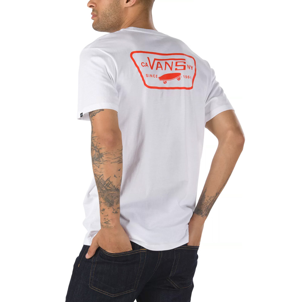 Vans T-Shirt Full Patch Back SS WHITE FLAME