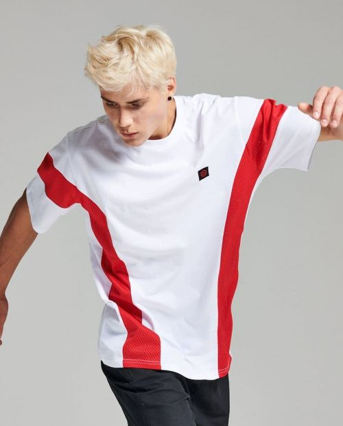 T-Shirt Dolly Noire Tornado White Red