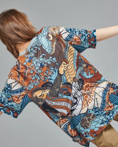 Dolly Noire T-Shirt Kuniyoshi All Over