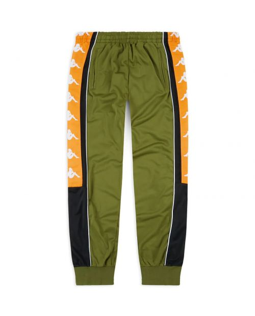 Kappa Pantaloni 222 Banda 10 Alenz - GREEN/BLK/ORANGE