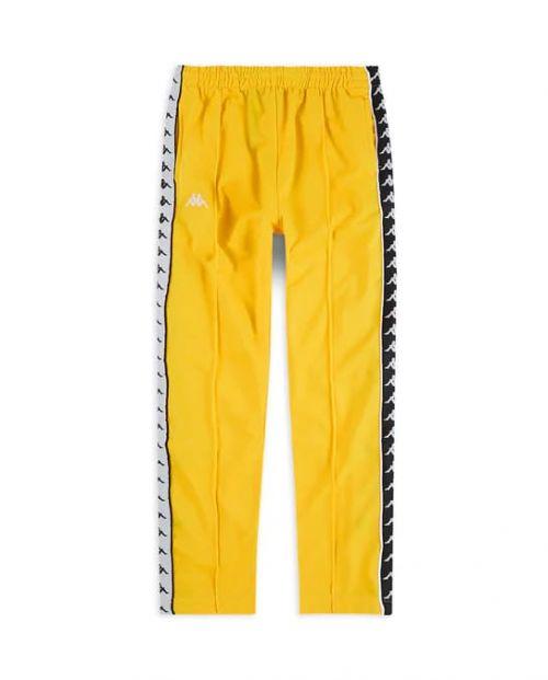 Kappa Pantaloni 222 Banda Astoria Snaps Slim- YELLOW/BLK/WHT