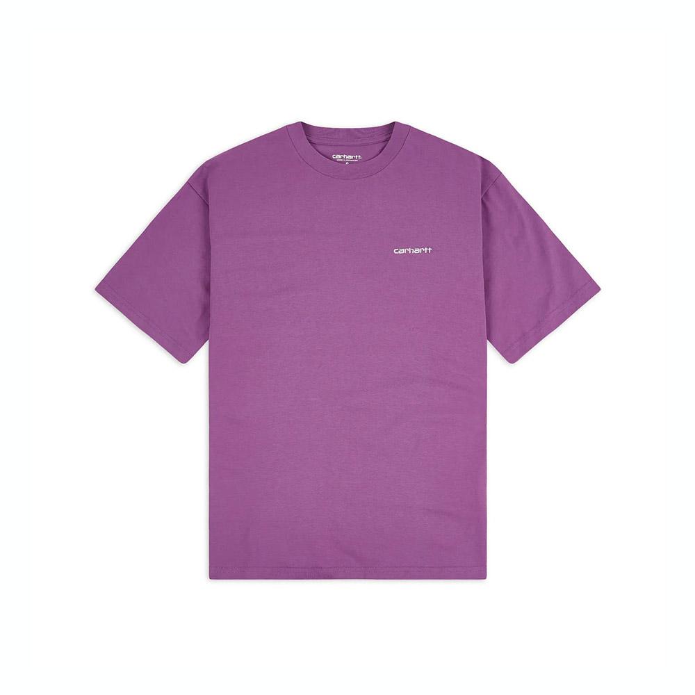 Carhartt T-Shirt Script Embroidery Aster White