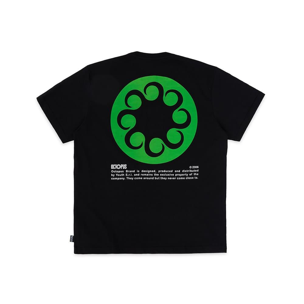 Octopus T-Shirt Logo Black