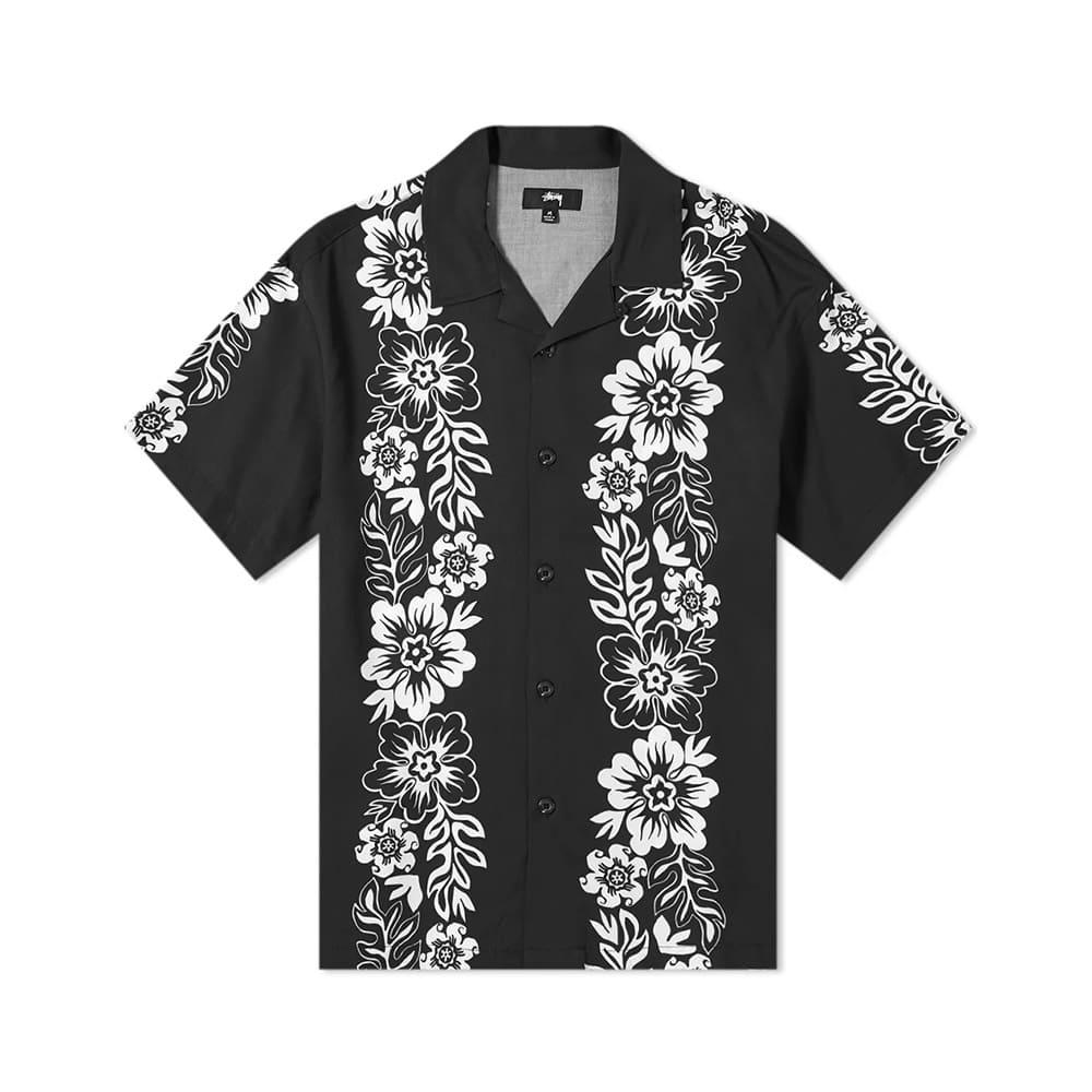 Stussy Camicia Hawaian Pattern Black
