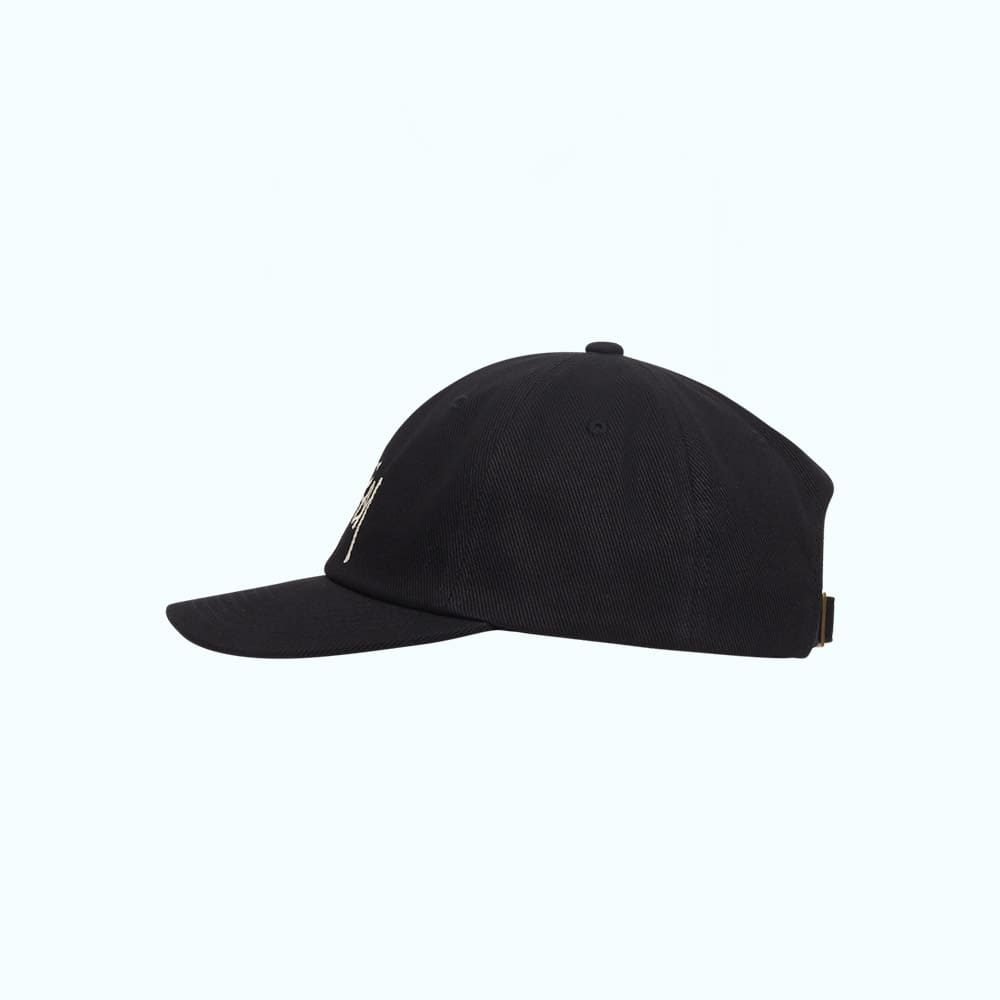 Stussy Cappello Big Logo Twill Low Pro Black 2