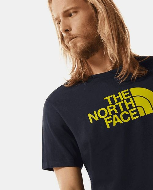 The North Face T-Shirt AVIATOR NAVY/ CITRONELLE GRN