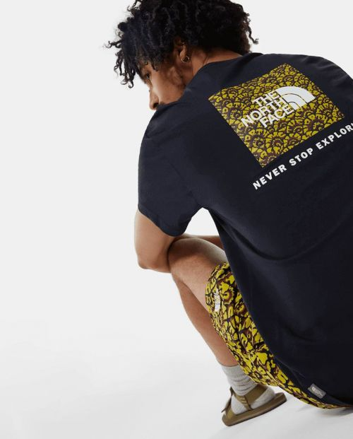 The North Face T-Shirt S/S Red Box Tee - AVIATOR NAVY/ CITRONELLE FLORAL