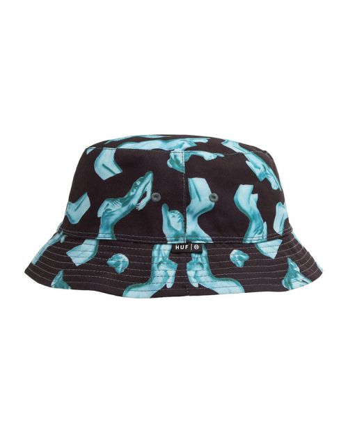 Cappello Huf Her Reversible Bucket Black