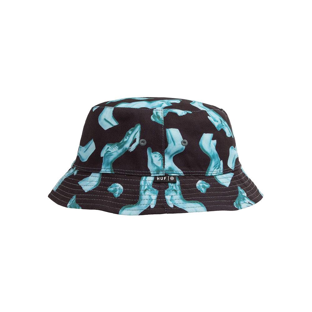 Cappello Huf Her Reversible Bucket Black