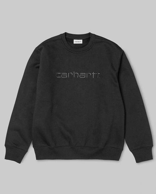 Felpa Carhartt Sweatshirt Black Black