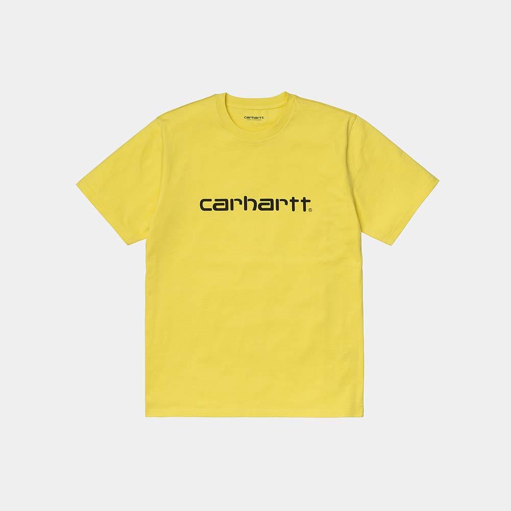 T-Shirt Carhartt Script Limoncello Black