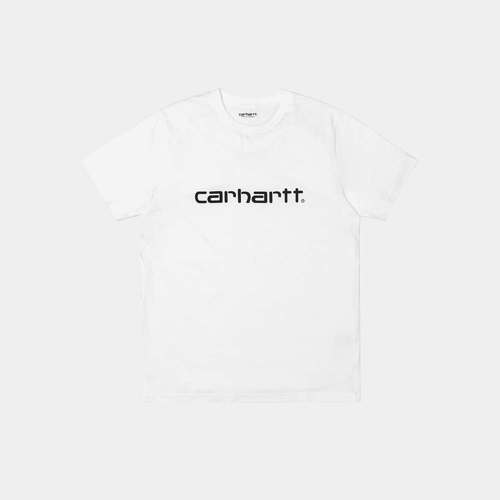 T-Shirt Carhartt Script White Black