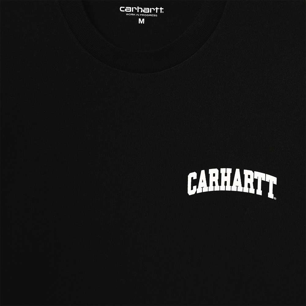 T-Shirt Carhartt University Script Black White