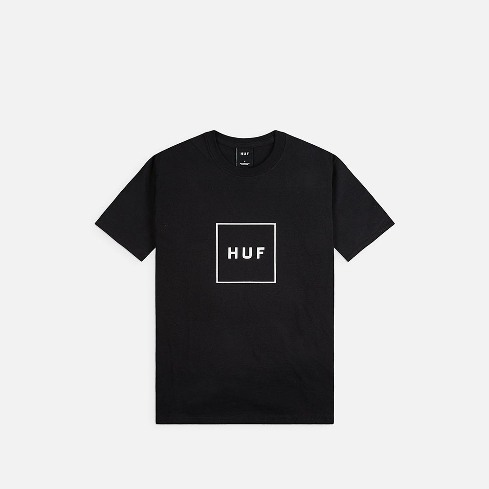 T-Shirt Huf Essentials Box Logo Nera