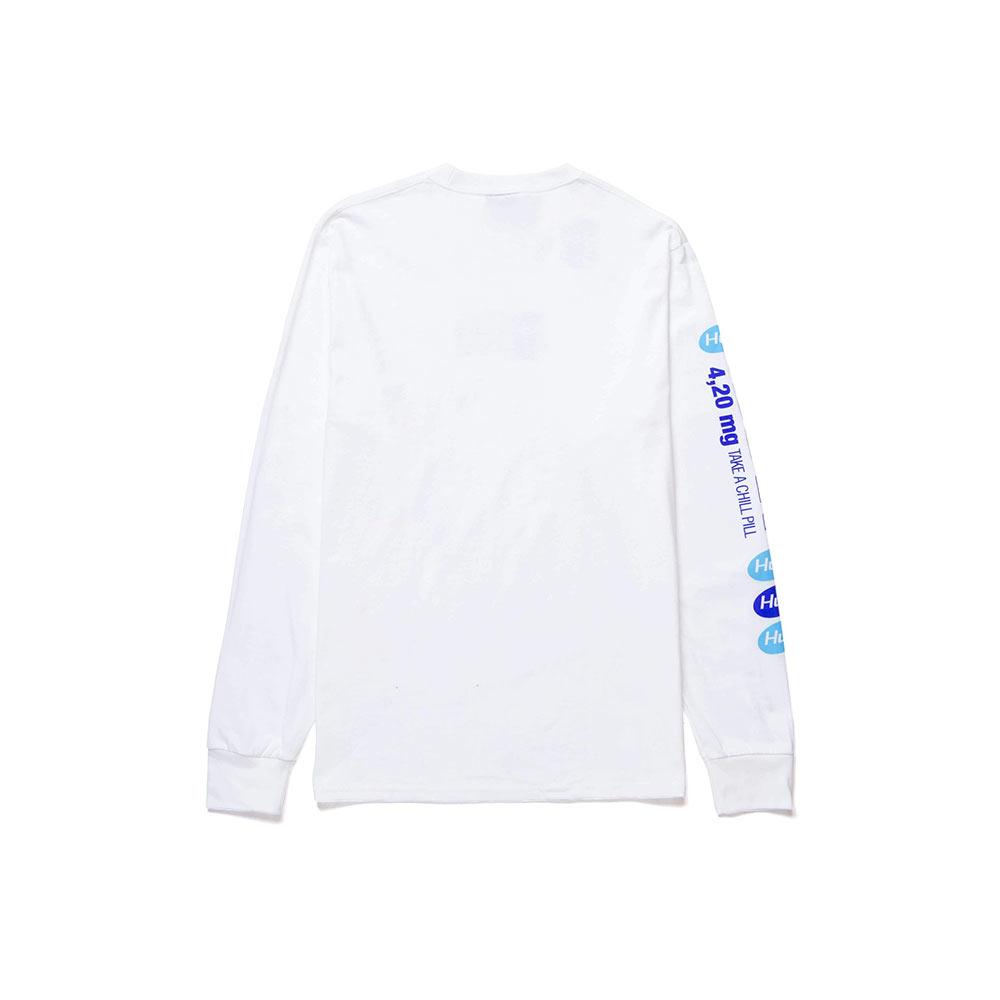 T Shirt Huf Relax Bianca Manica lunga 1