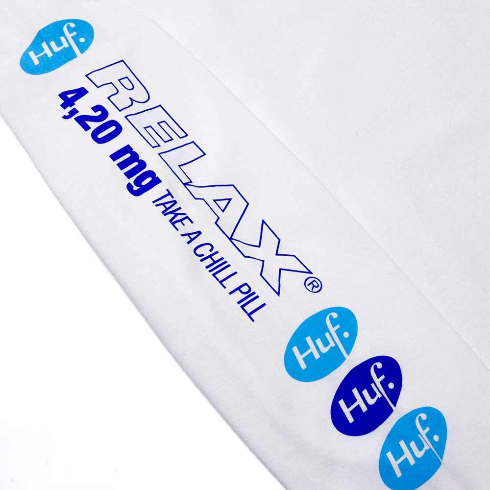 T Shirt Huf Relax Bianca Manica lunga 3