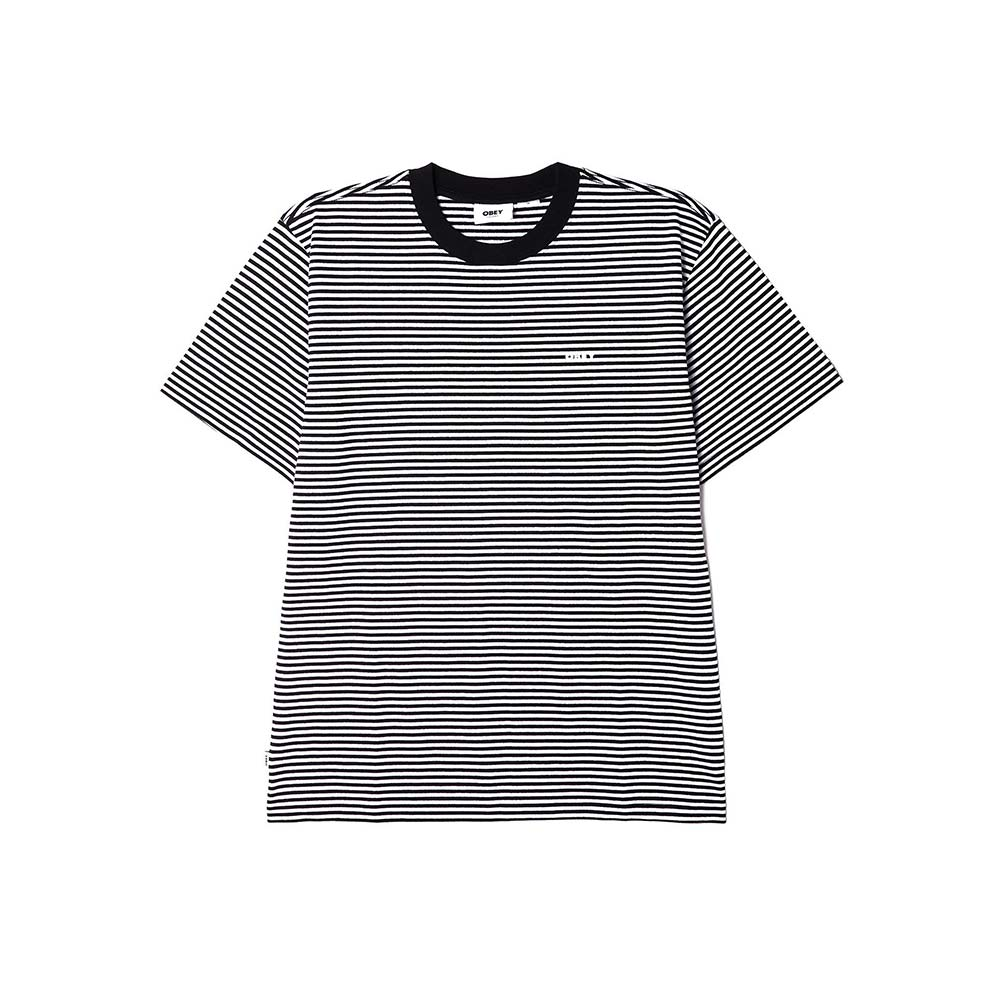 T-Shirt Ideals Organic Stripe Black 1