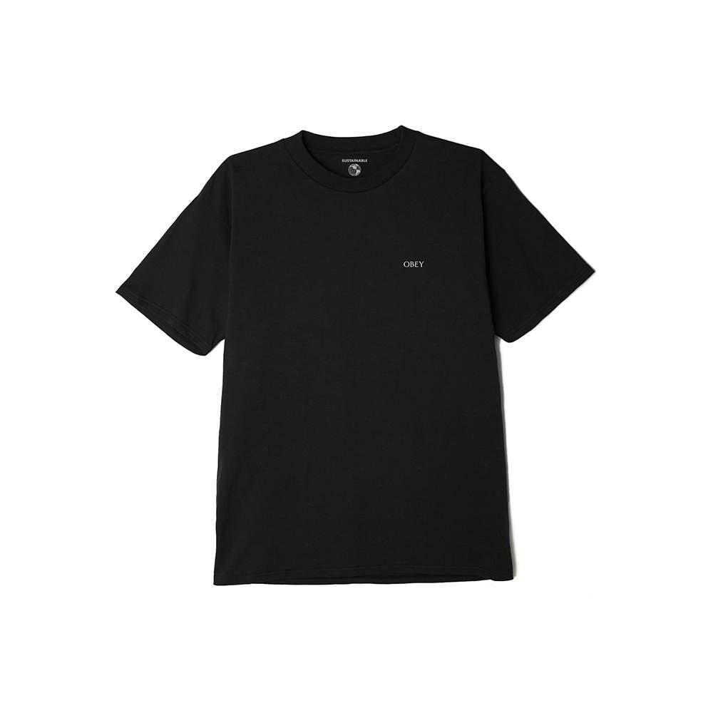 T-Shirt Obey Crosswalk Sign Eco Life Black