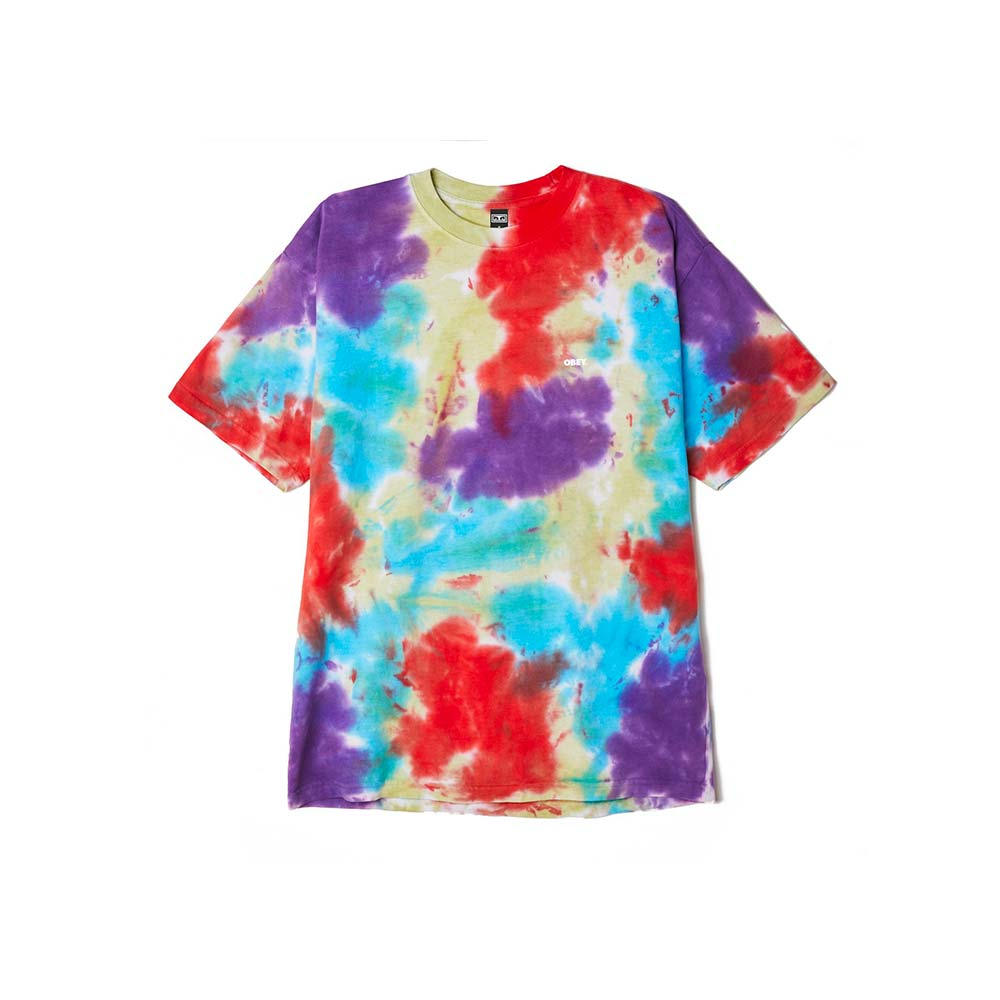 T-Shirt Obey Oxy Fire Blotch tie dye