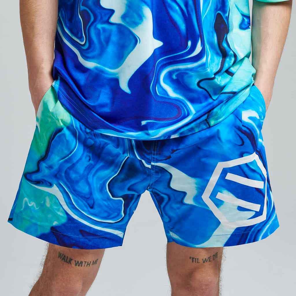 Costume da Bagno Dolly Noire Gradient Logo Blu