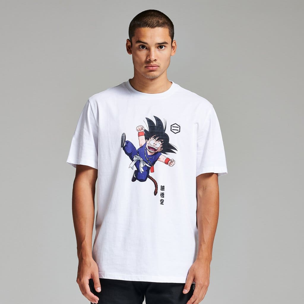 T-Shirt Dolly Noire Son Goku Bianca