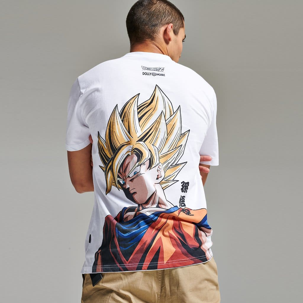 T-Shirt Dolly Noire Goku Super Sayan Bianca