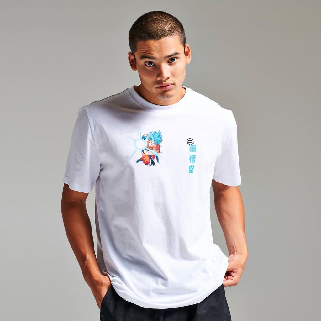T-Shirt Dolly Noire Goku Super Sayan God Bianca
