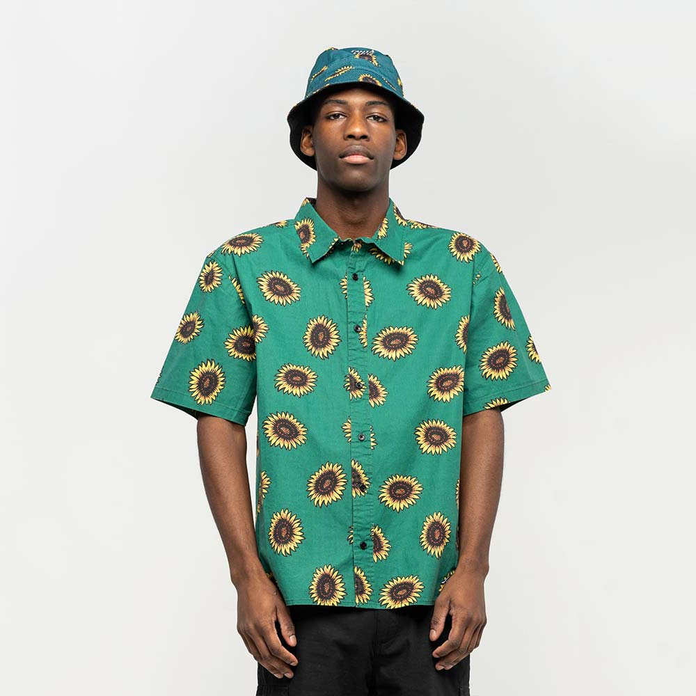 Camicia Santa Cruz Sunflower Shirt Evergreen
