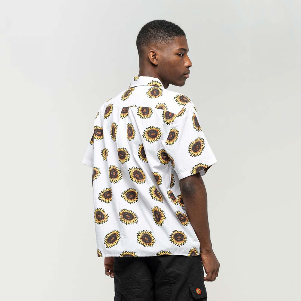 Camicia Santa Cruz Sunflower Shirt White