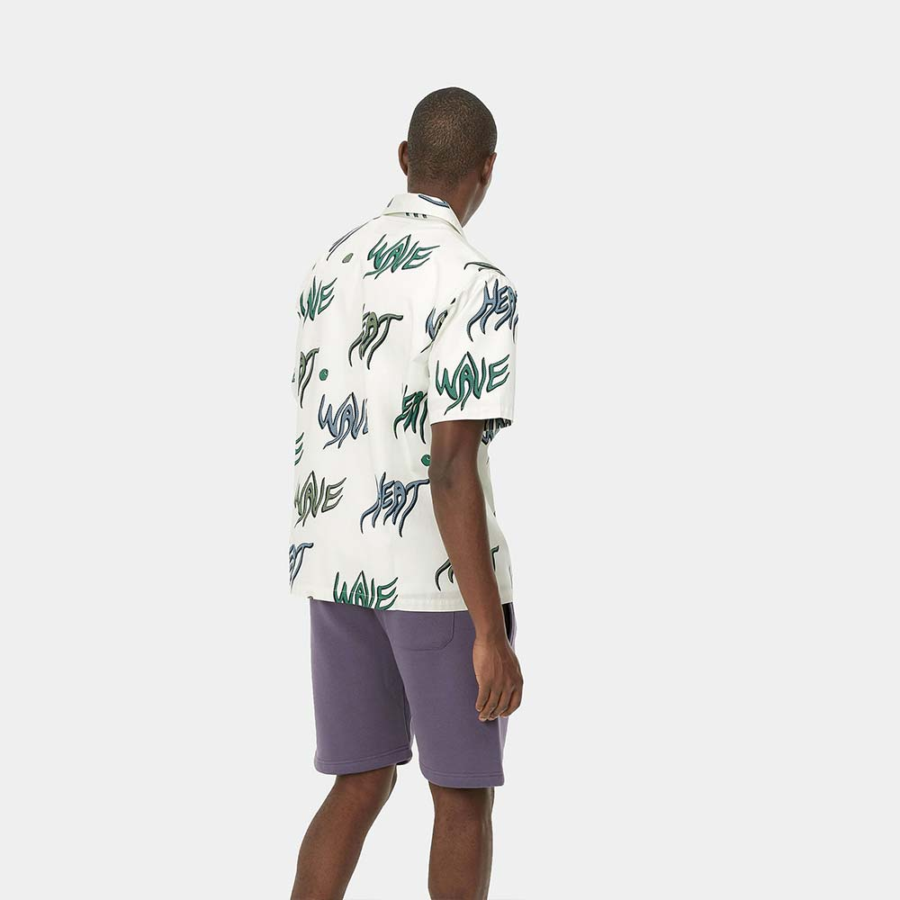Camicia a maniche corte Heat Wave Print Wax