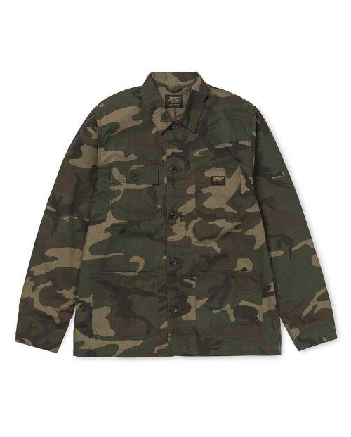 Giacca Carhartt Michigan Shirt Jac CAMO LAUREL RINSED 1