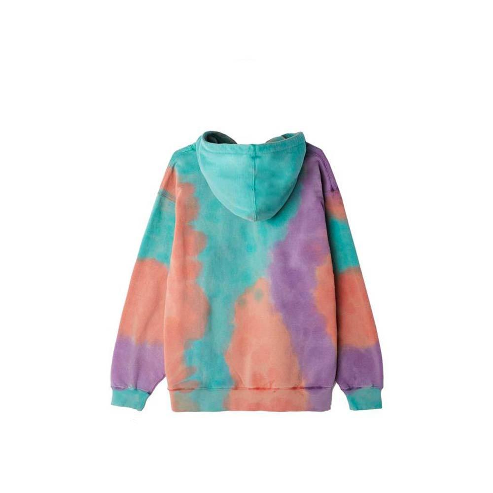 Felpa Obey Sustainable Tie Dye Fleece - PURPLE NITRO MULTI