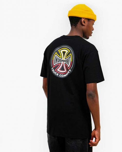 Independent T-Shirt Split Cross Black