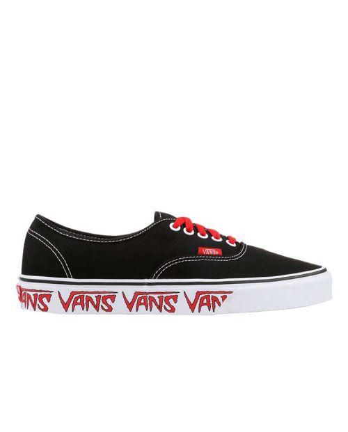 Scarpe Vans Authentic Sketch Sidewall Black Red
