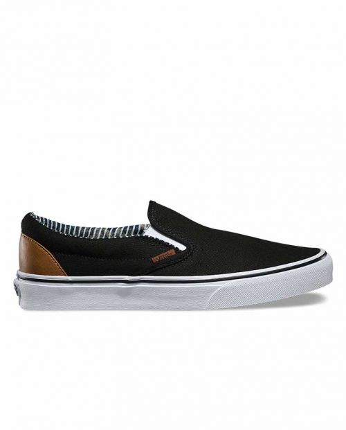 Scarpe Vans Classic Slip-On C&L Black Stripes Demin