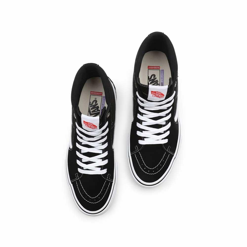 Scarpe Vans Skate Sk8 Hi Black White 1