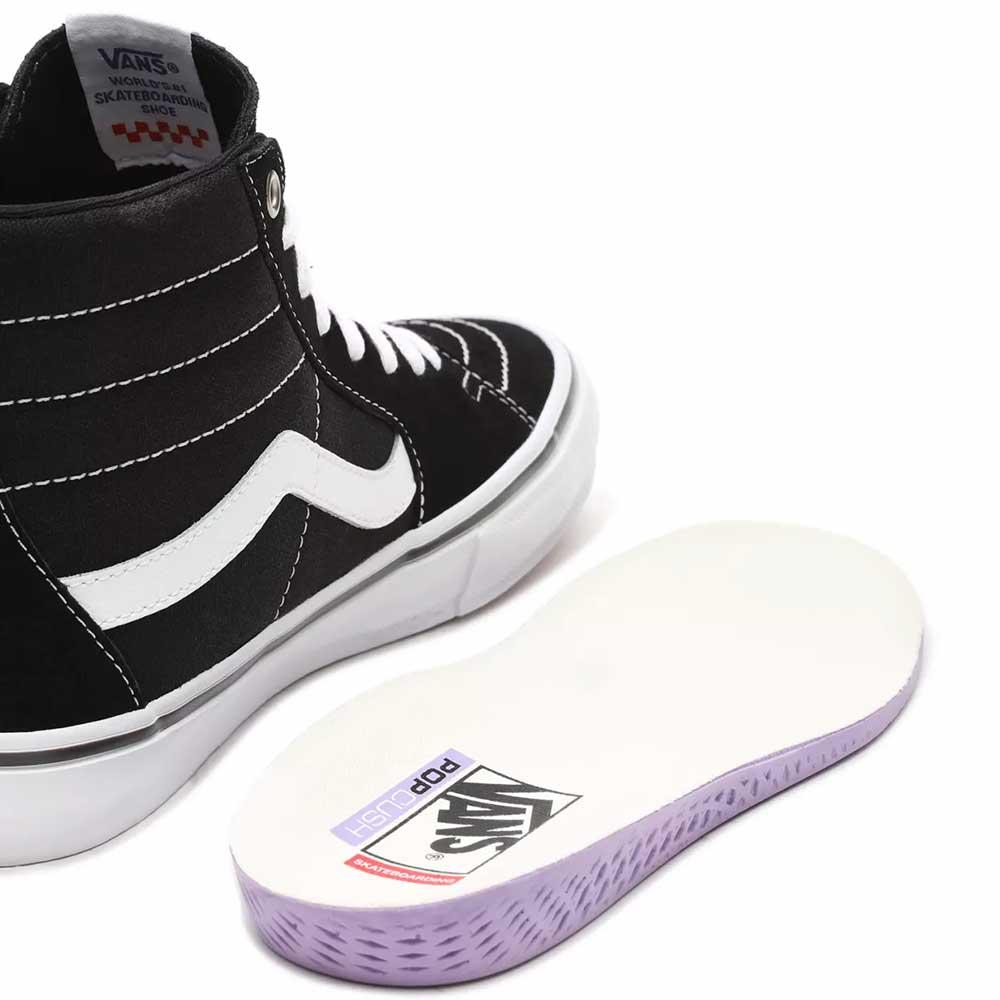 Scarpe Vans Skate Sk8 Hi Black White 3