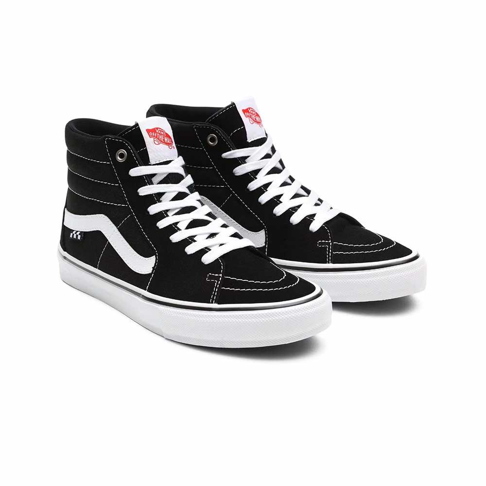 Scarpe Vans Skate Sk8 Hi Black White 4