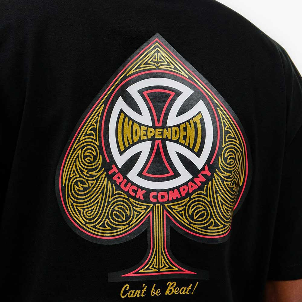 T Shirt Independent CBB Cross Spade Black 1