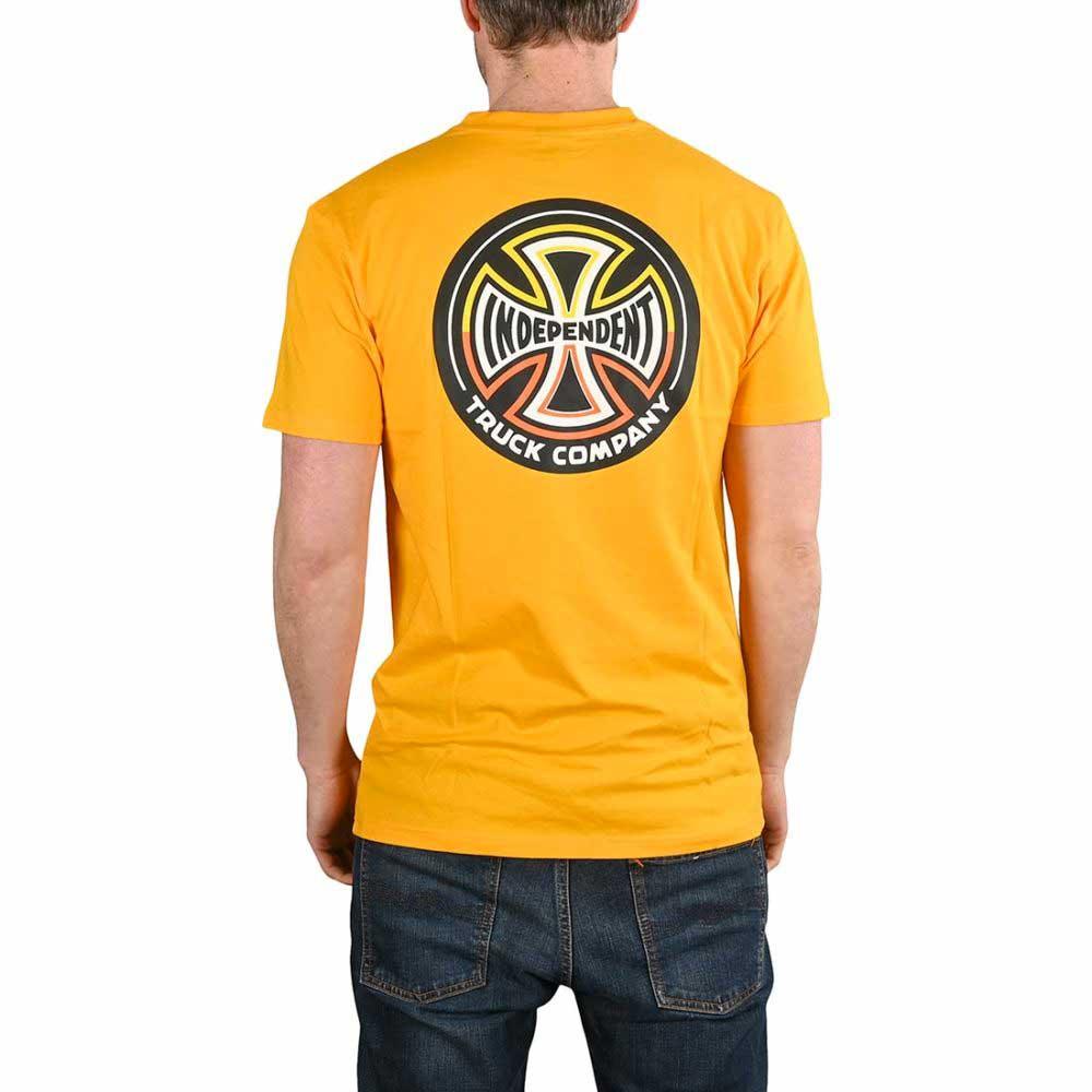 T-Shirt Independent Split Cross Gold