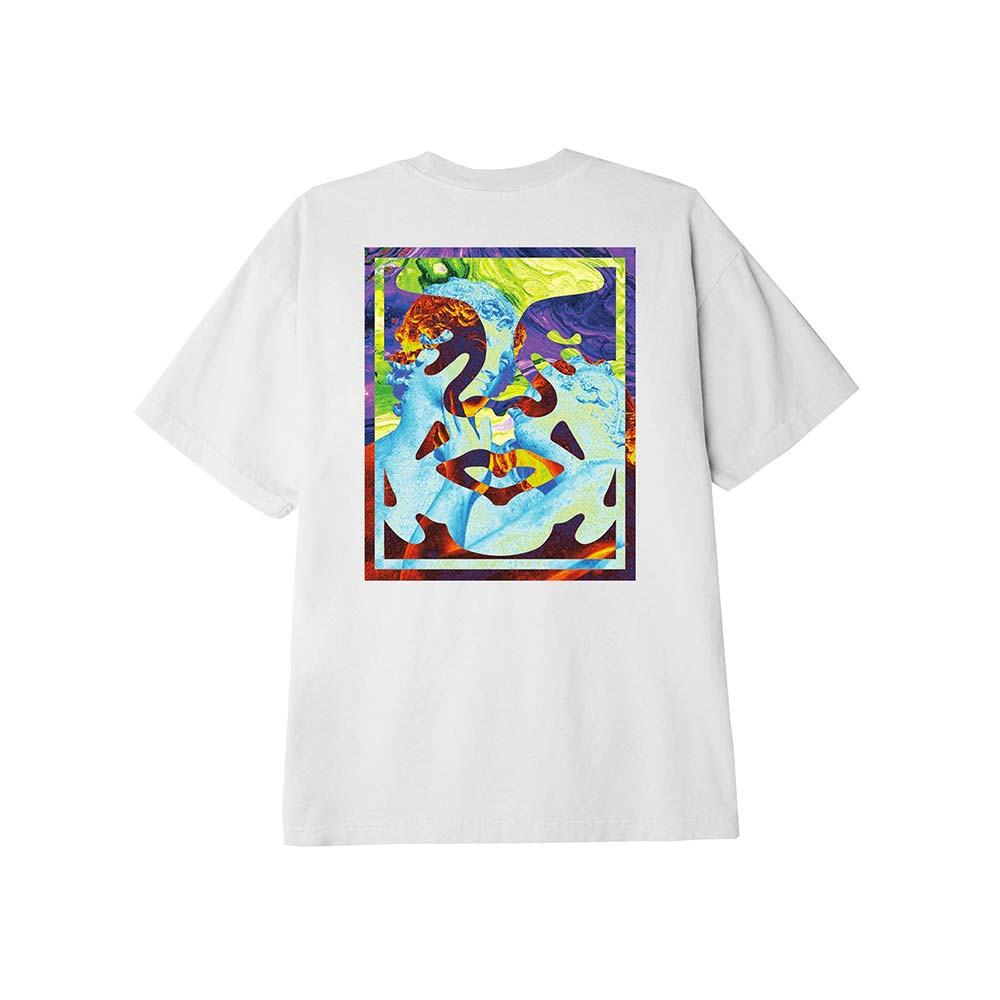 T-Shirt Obey Statue Icon Classic Bianca