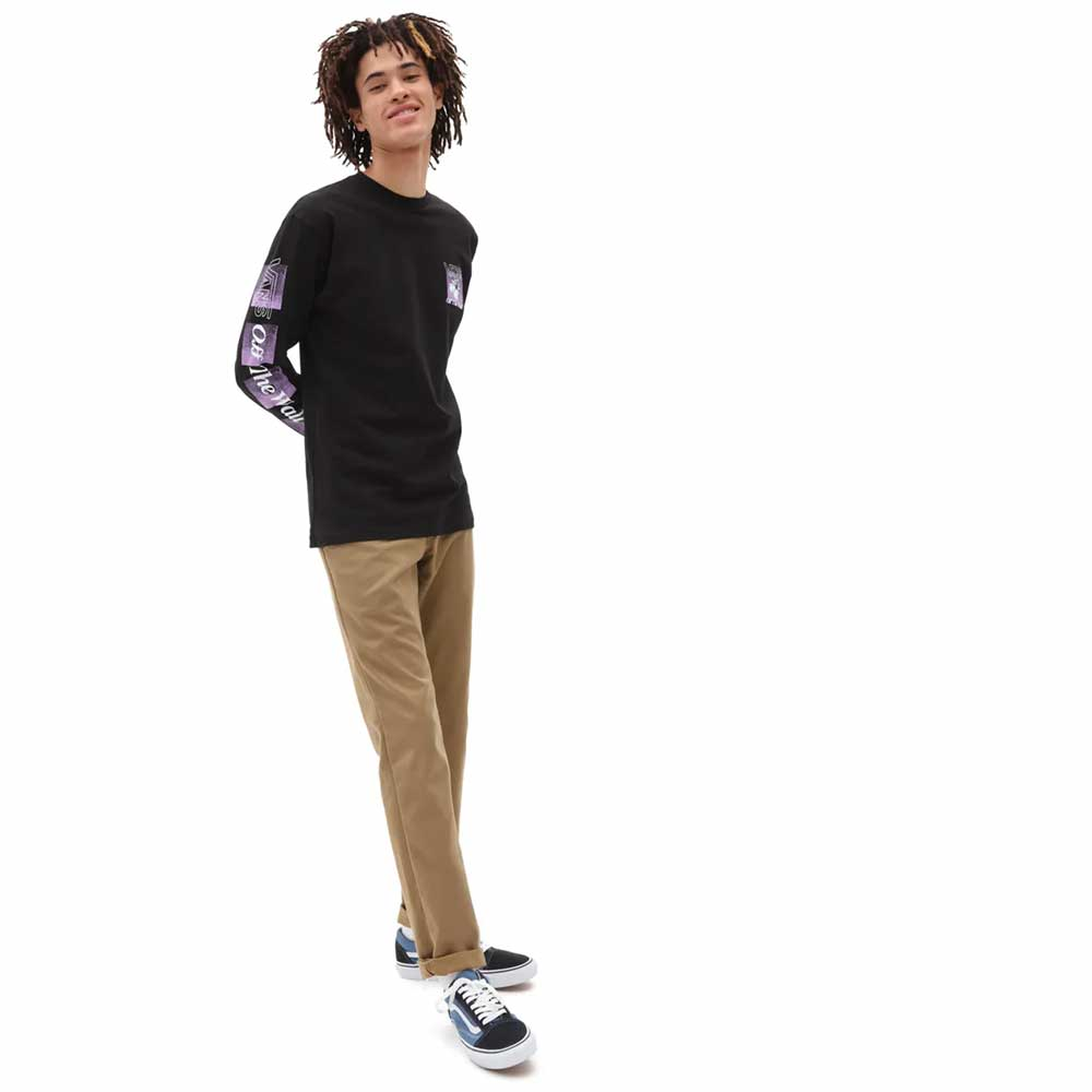 T-Shirt Vans Man Flynet Ls Black