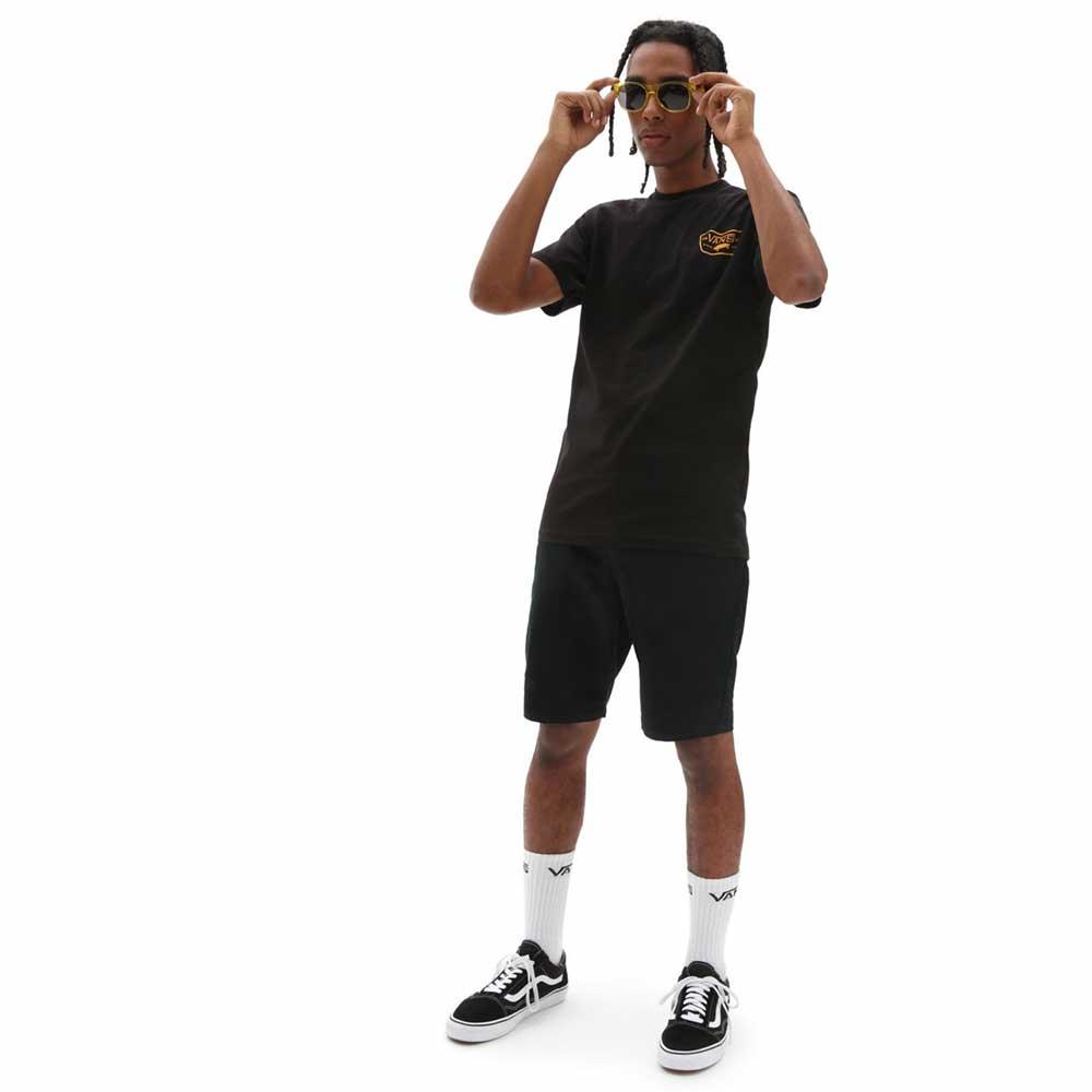 T-Shirt Vans Man Full Patch Black Saffron