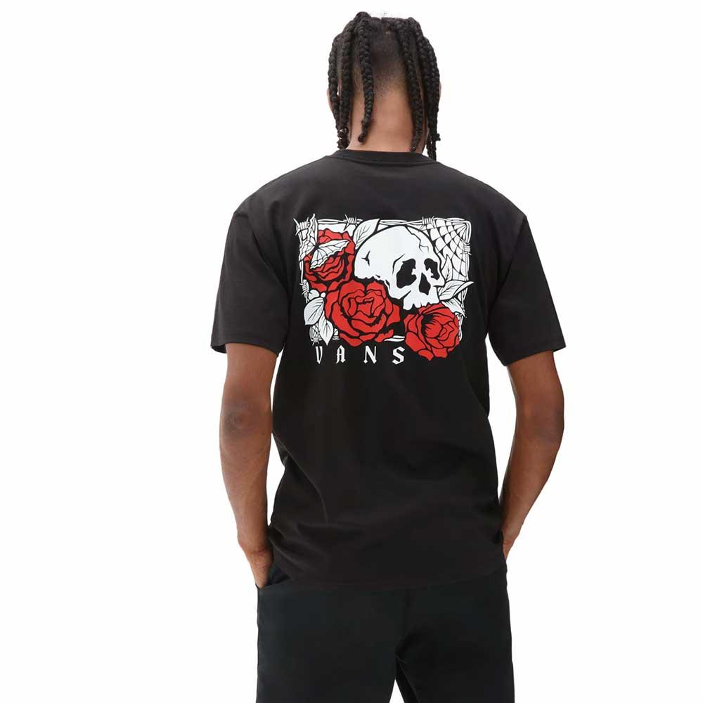 T-Shirt Vans Man Rose Bed Black