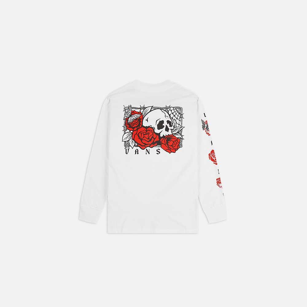 T-Shirt Vans Man Rose Bed Ls White