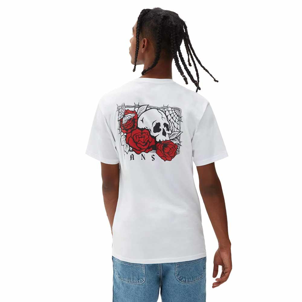 T-Shirt Vans Man Rose Bed White