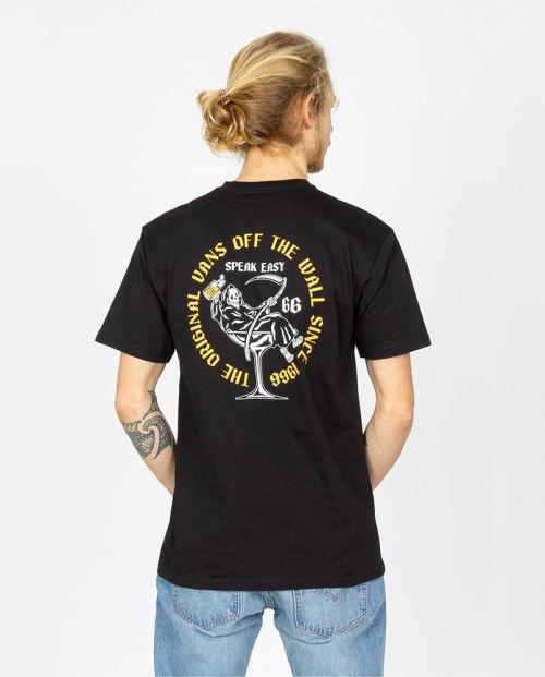 T-Shirt Vans Man Speak Easy Black