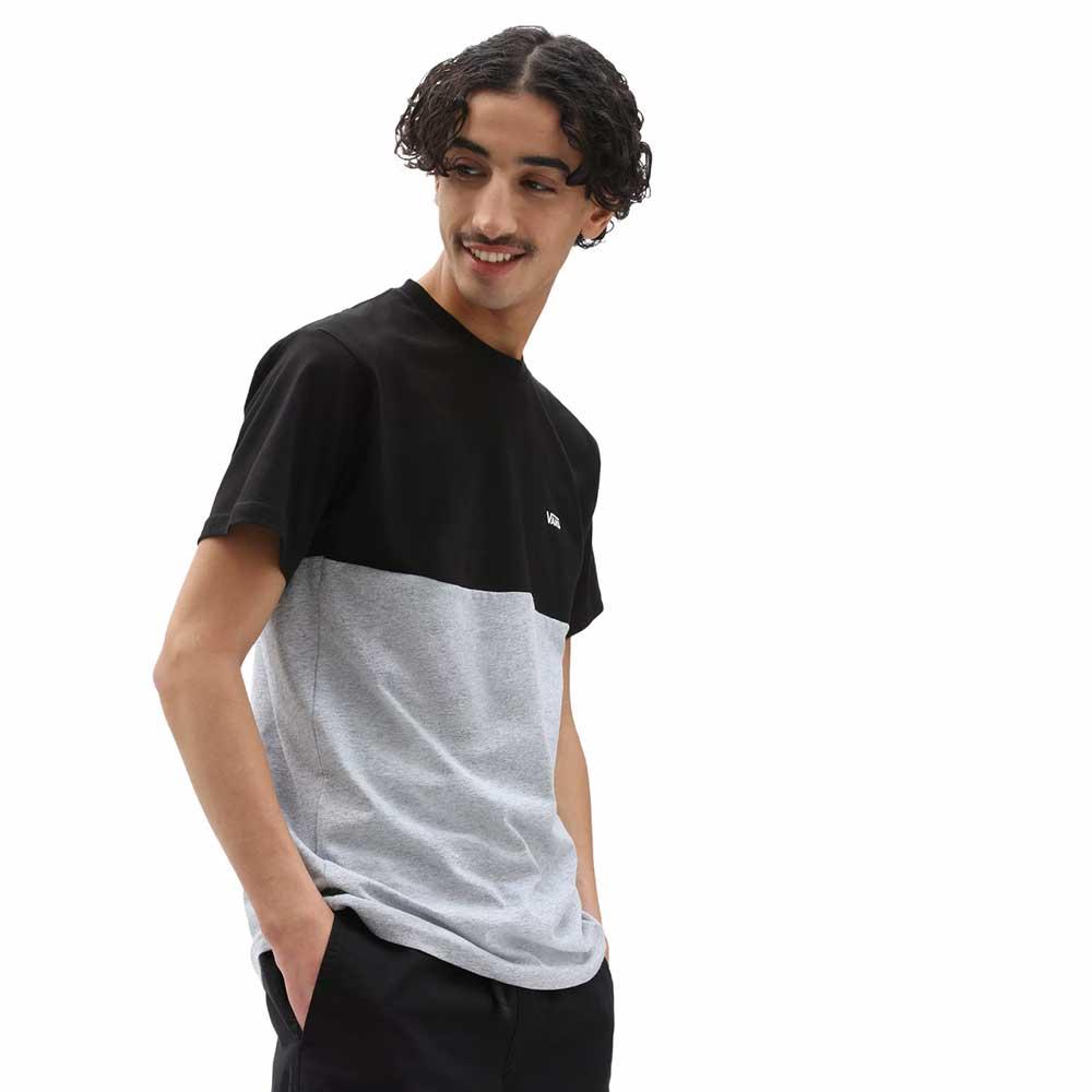 T-Shirt Vans man Colorblock Tee Black Athletic